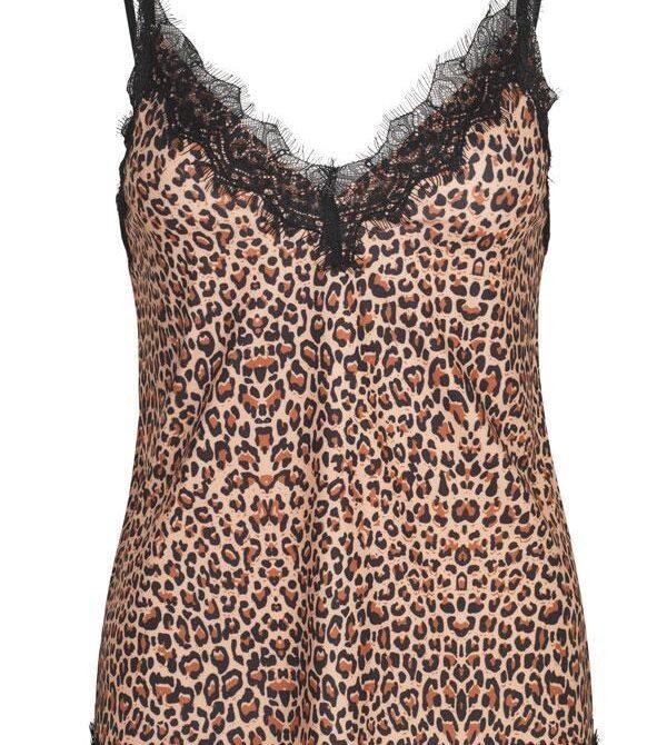 strap top leopard print