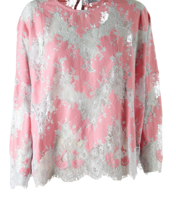 lace blouse coral