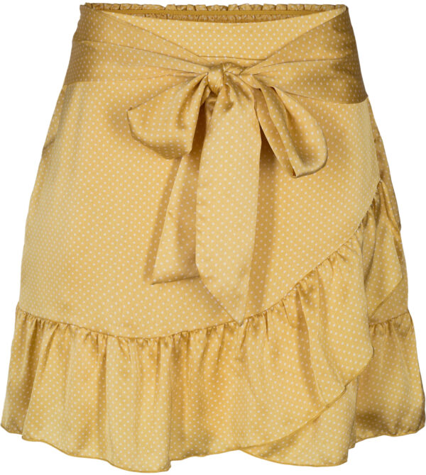 bella vintage dot skirt - yellow