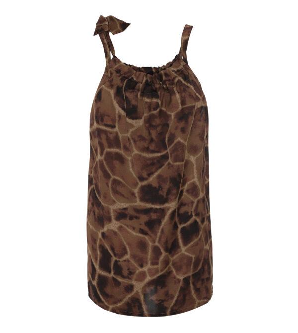 giraffe ruffle tie top