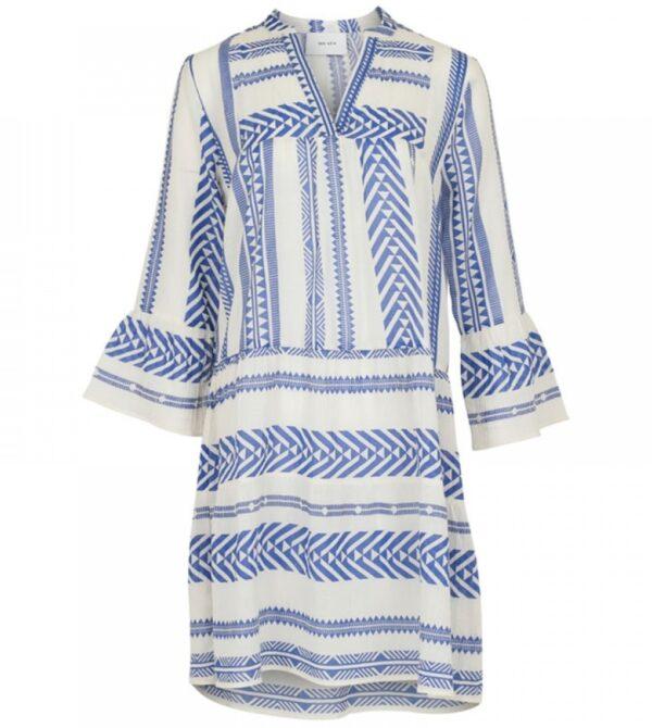 gunvor aztec dress - blue