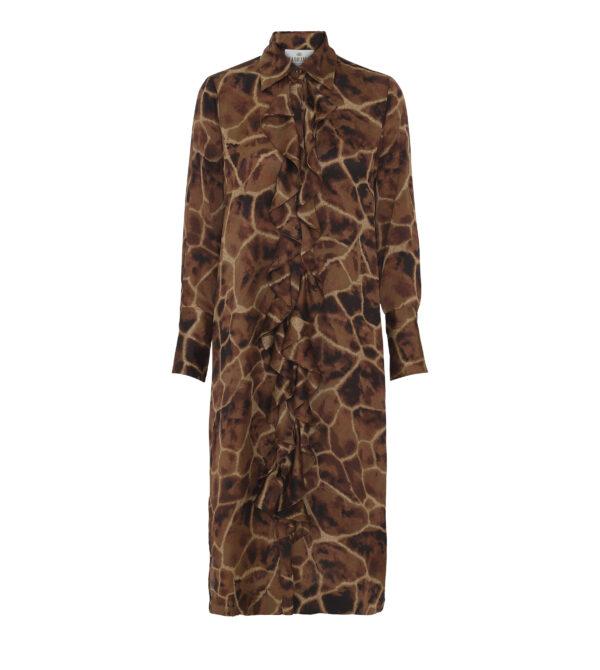 Giraffe ruffle kimono