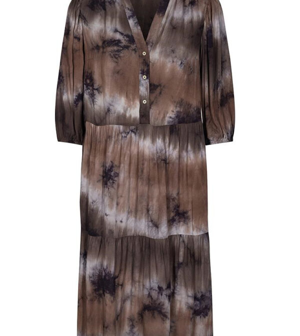 cream tie dye dress - mocca
