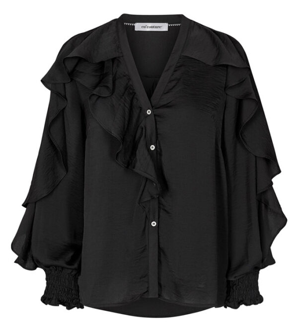 co´couture - Floyd Frill Shirt Black