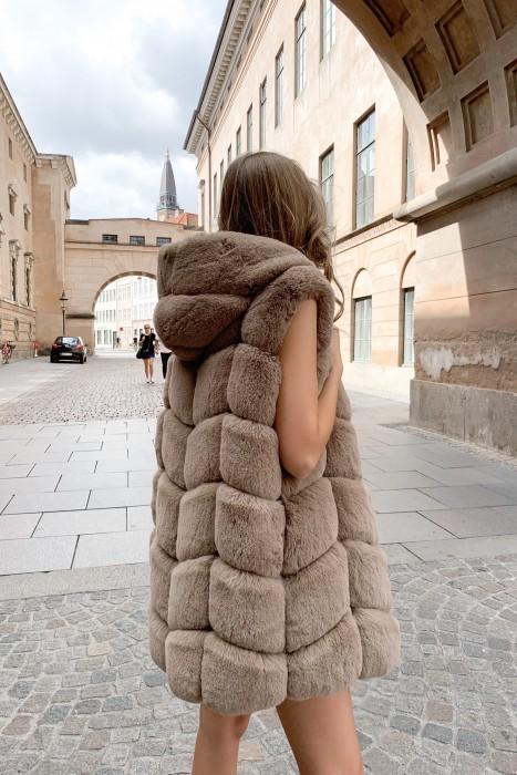 Ashley faux fur - brun