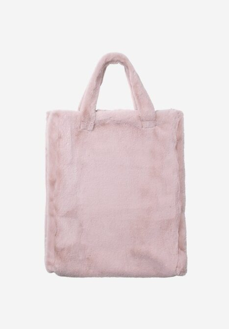 Carrie faux fur tote - pink