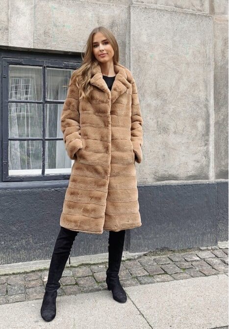 Ophelia Faux Fur - Brun